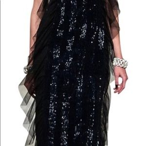 Black sequin CHANEL dress